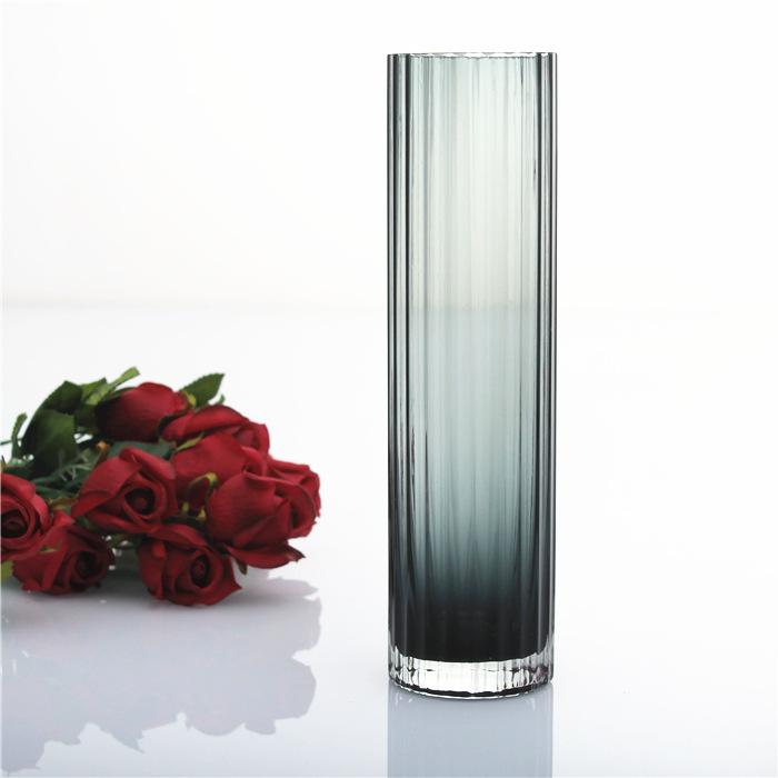 高档烟灰透明玻璃手工花瓶