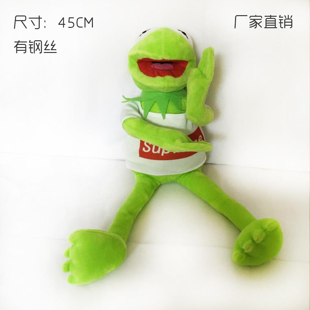 厂家直销 早教培训道具青蛙公仔芝麻街科密特青蛙kermit科米蛙图片