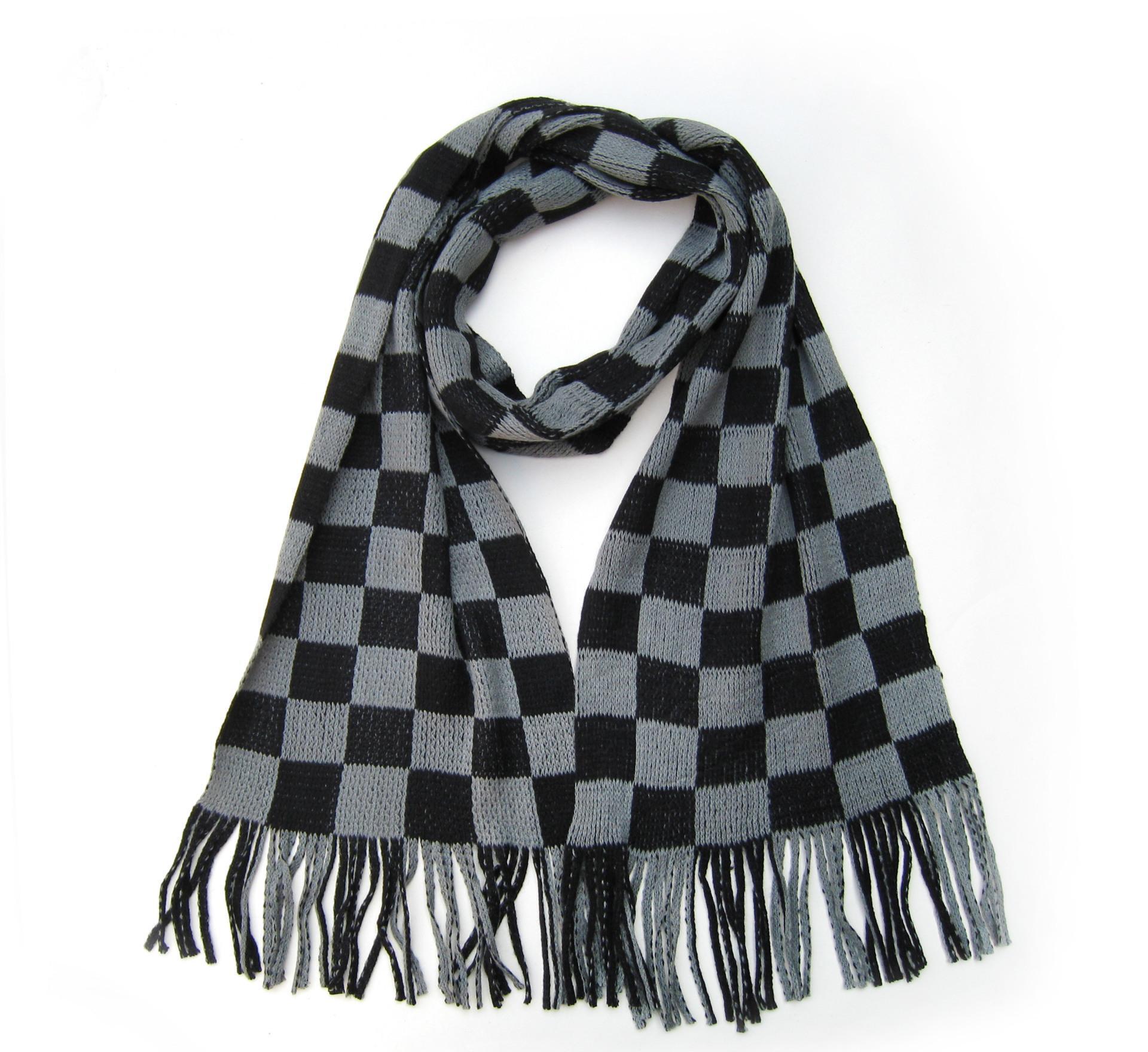 新款冬季羊绒围巾男士围巾男款女士围巾仿绒围脖厚正品英伦格子