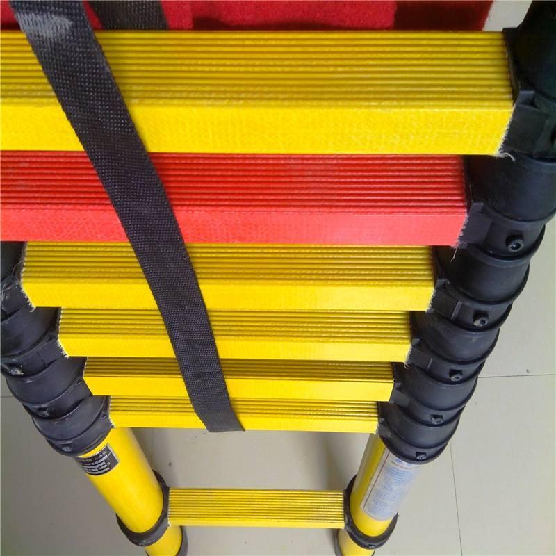 可伸缩鱼竿梯热销 电力绝缘伸缩梯 车载梯承重500kg