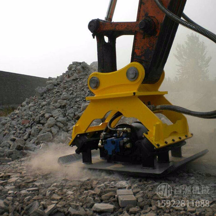 挖掘机振动夯高效施工