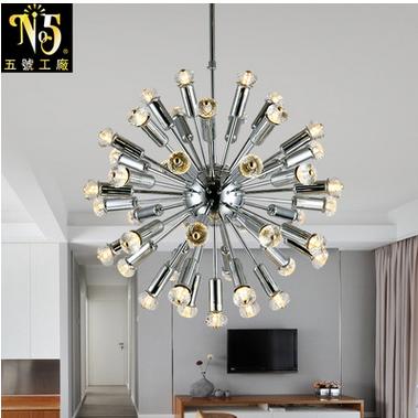 五号工厂定制 创意圆球水晶灯 后现代简约个性水晶led灯泡 节能环保
