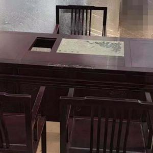 赞比亚血檀新中式茶桌六件套