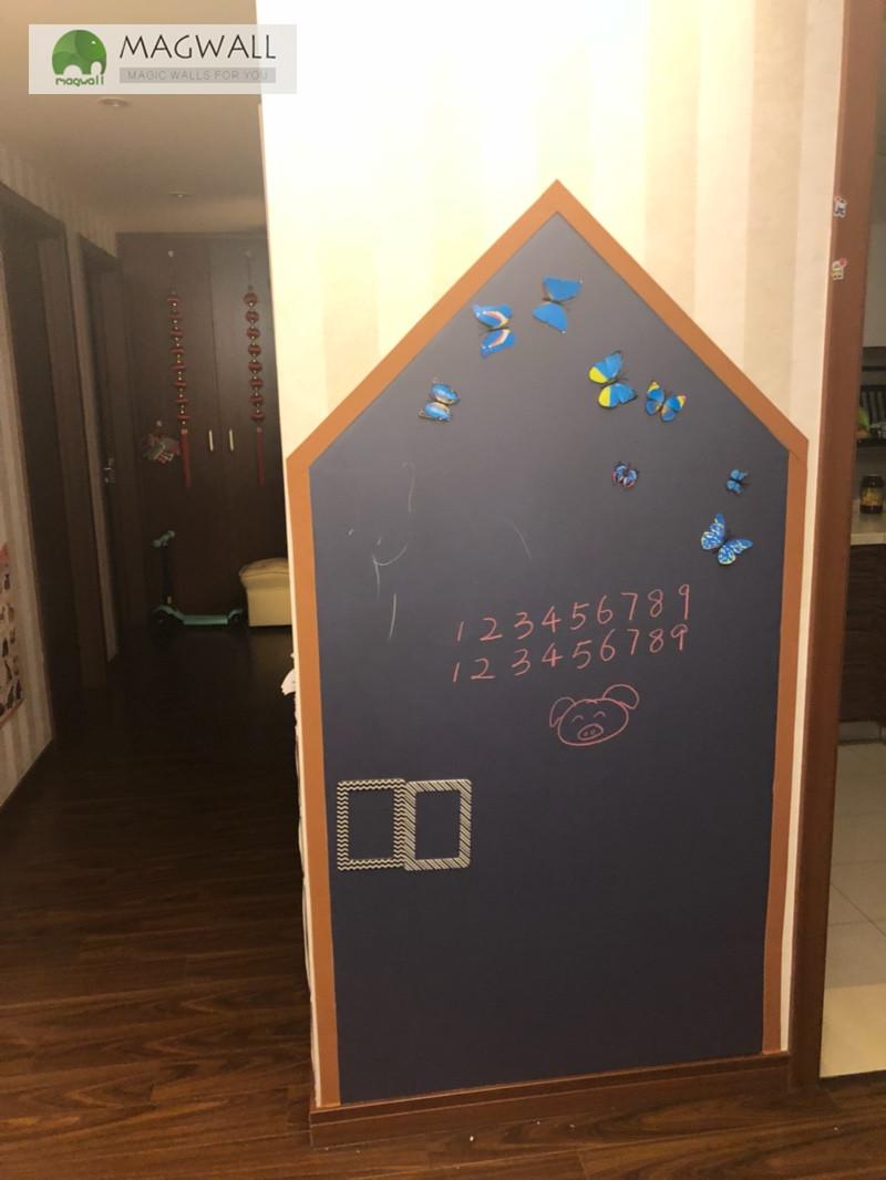磁善家家用黑板自粘简易安装环保无尘磁性黛灰黑板