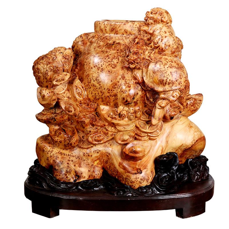 南溪之珠工艺品红木工艺品 国之重器镇店招财龙龟聚宝盆