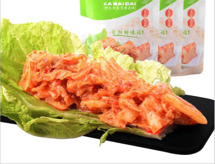 供应 辣白菜 泡菜 韩式风味辣白菜95克 朝鲜风味辣白菜 辣白菜批发