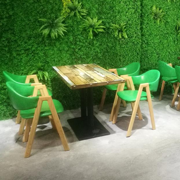 江门茶餐厅时尚餐桌餐椅定做 新会铁艺餐桌椅来图定制