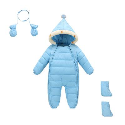 供應 兒童連體衣爬服 冬季新款長袖加厚嬰幼哈衣新生兒**棉衣