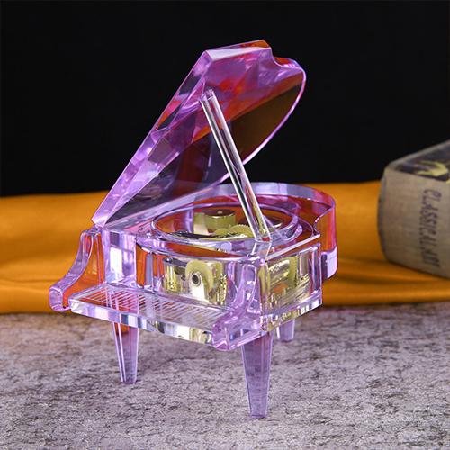 供应 水晶钢琴音乐盒摆件工艺品 节日生日礼品 厂家定制