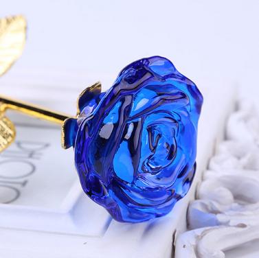 供应 水晶玫瑰花工艺品 生日礼物 七夕礼物 送礼佳品