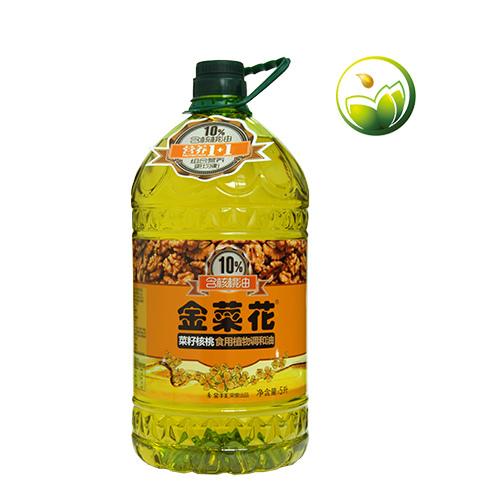 金菜花菜籽核桃食用植物调和油  5l 高营养价值食用油
