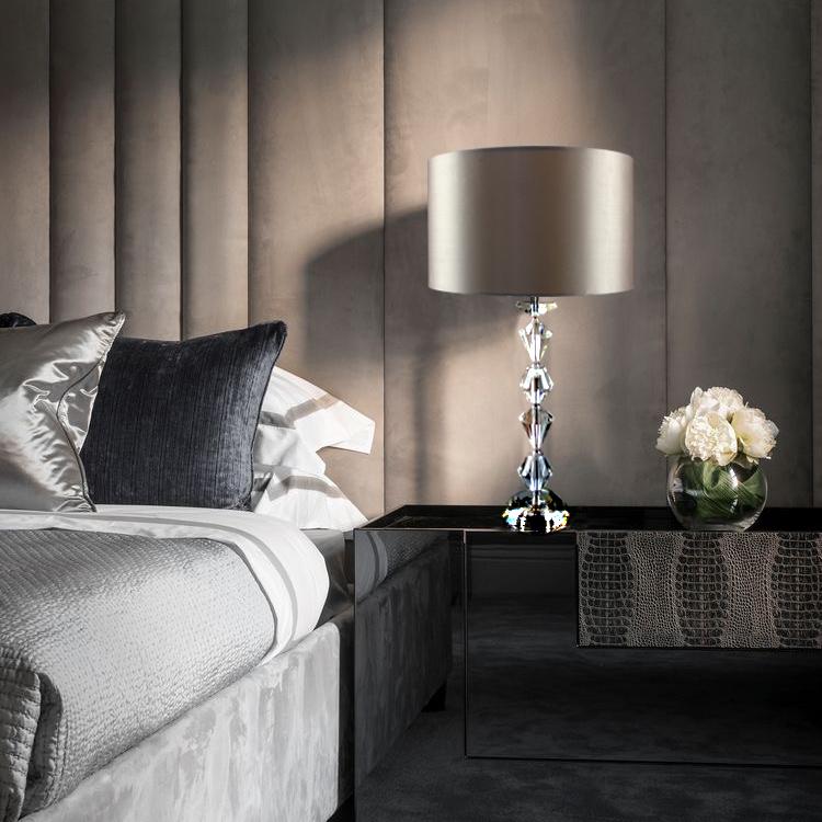 北欧奢华水晶台灯后现代简约大气样板房调光客厅卧室酒店床头灯具