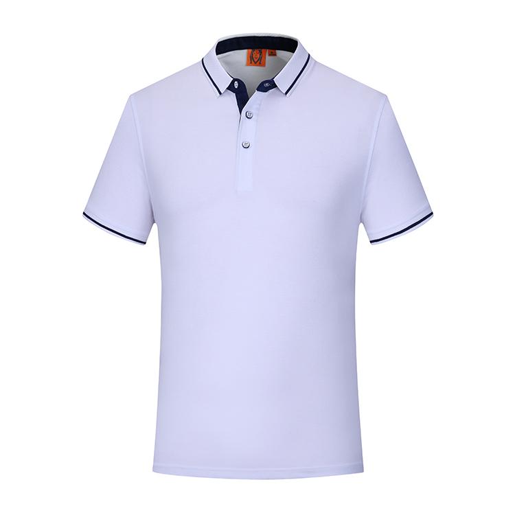 团体服文化衫定制 陶瓷蚕丝翻领短袖