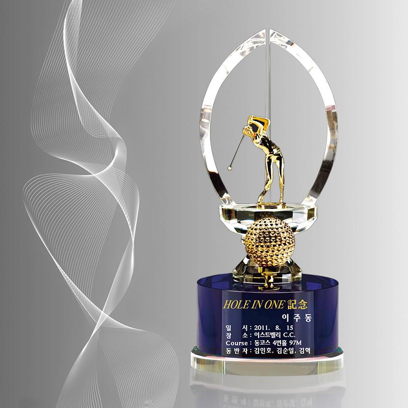 精品高尔夫水晶奖杯厂家直销免费设计排版私人定制比赛颁奖奖牌