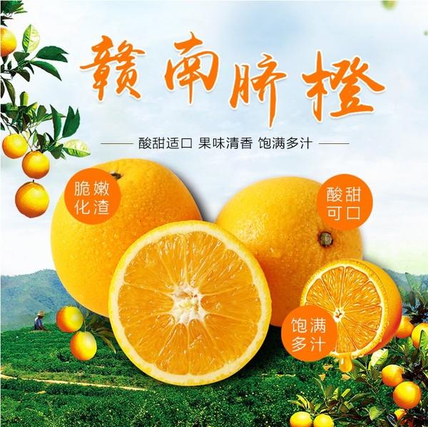 江西赣州脐橙新鲜现摘 精品果(75-85mm)5斤礼盒装包邮 正宗赣南特产橙子