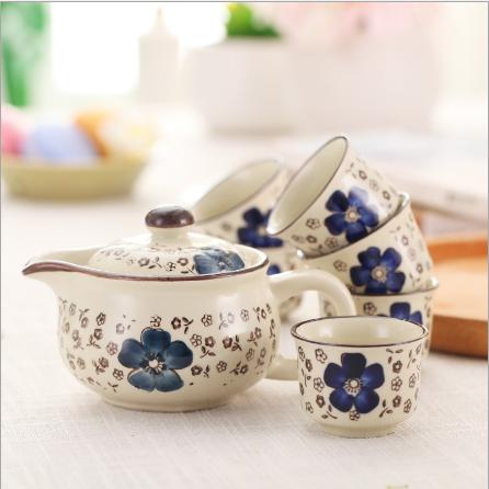 供應廠家直銷陶瓷功夫茶具 手繪茶具套裝 創意禮品套裝LOGO定制批發