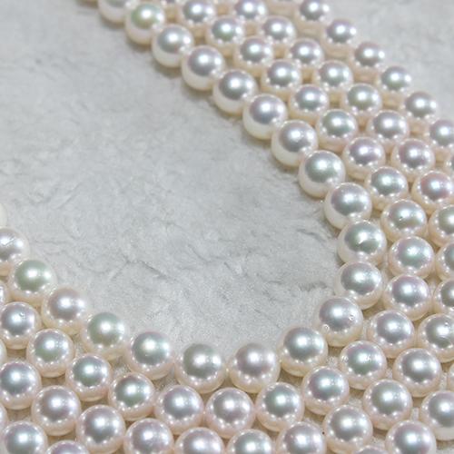 美尚珍珠  8-8.5mm日本akoya天然海水珍珠项链正圆强光无瑕疵 送礼佳品 附鉴定证书