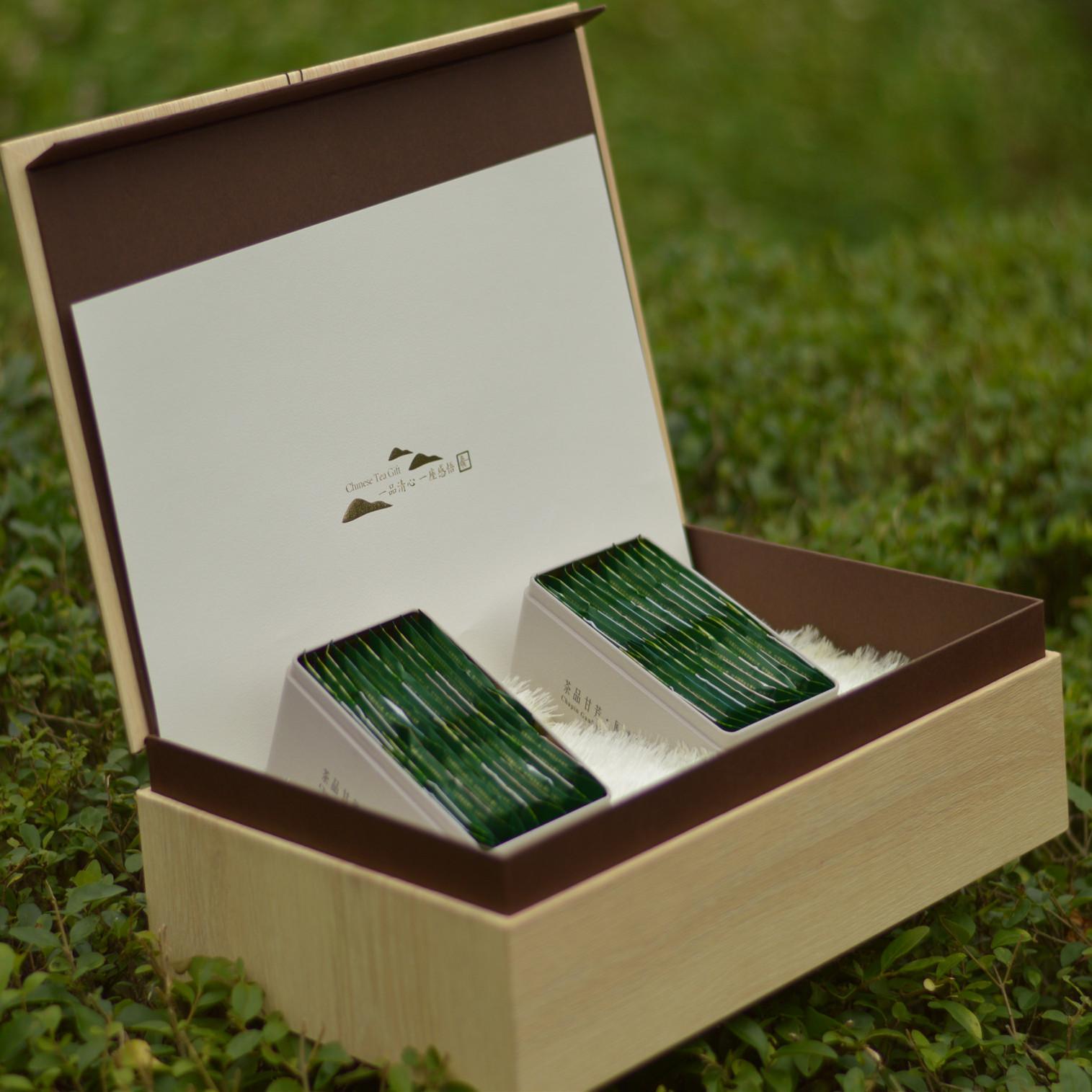 绿茶 两铁罐礼盒,2018年新上市明前茶,毛峰,绿茶,炒青