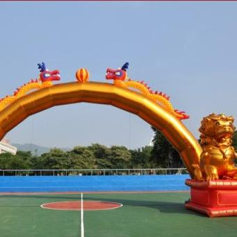 济南气模厂直销 金狮双龙拱门 开业庆典拱门 新款卡通拱门 可定做