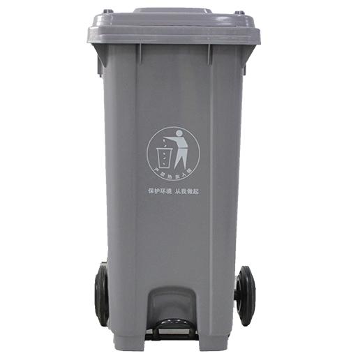 重庆力加120L带轮环卫塑料环保垃圾桶厂家直销