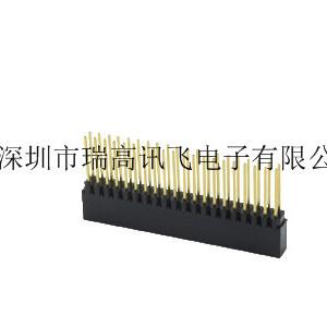 瑞高讯飞单排1.27mm间距180°排针排母