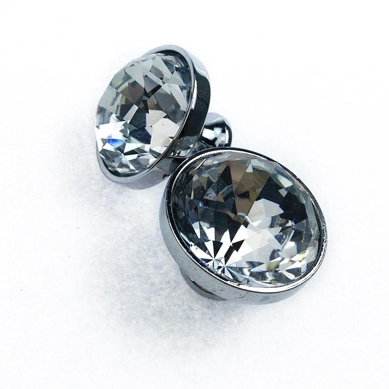 衣柜门拉手 欧式橱柜 鞋柜 酒柜 抽屉把手 现代简约 圆单水晶拉手