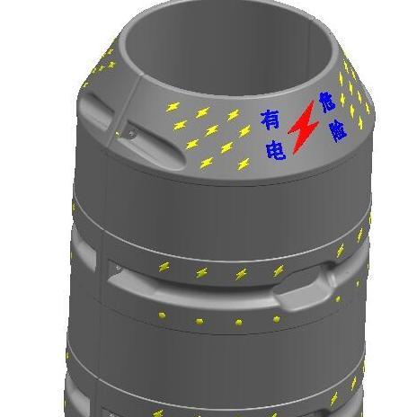 塑料电杆防撞墩生产设备