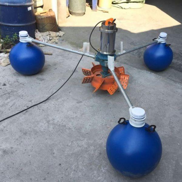 380V三相2200W三浮球叶轮式增氧泵