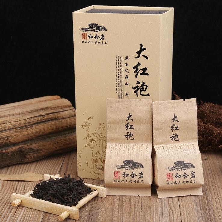 供应  原传统手工茶 大红袍兰花香茶叶礼盒装