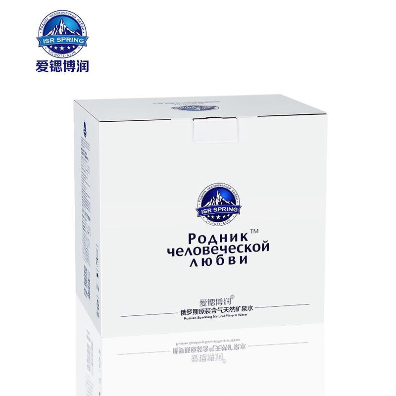 爱锶博润珍稀复合型天然含气矿泉水俄罗斯原装进口12瓶装