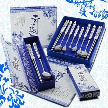 供应 中国风 青花瓷餐具礼盒
