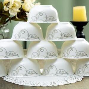 供应 景德镇 4.5寸金钟陶瓷碗套装10只装