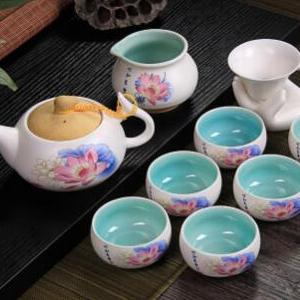 供应 亚光陶瓷整套功夫茶具