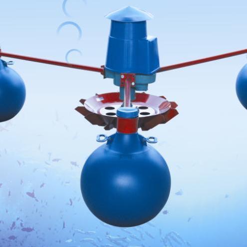 三相电YL-2.2KW叶轮式增氧机渔业鱼塘浮球式增氧机