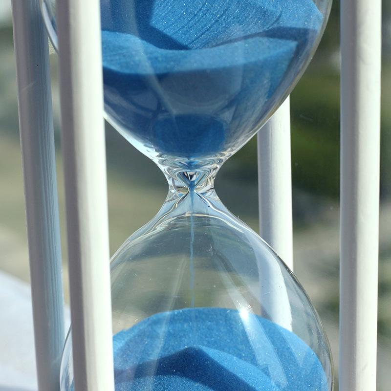 玻璃水晶沙漏 创意家居工艺礼品摆件木质时间沙漏计时器