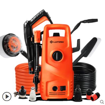 供应 绿田洗车神器洗车泵高压220v 家用清洗机便携式洗车机自动洗车器