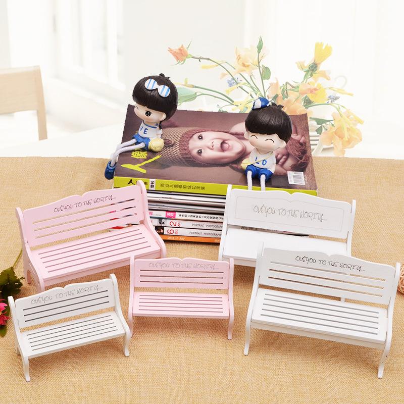 粉色椅子拍照摄影道具装饰品创意长椅摆件