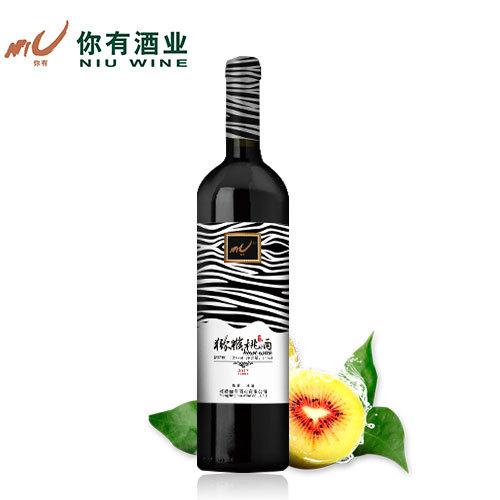 【斑马猴】杨凌你有酒业 优质猕猴桃酒  半甜型 果酒  瓶装 750ml