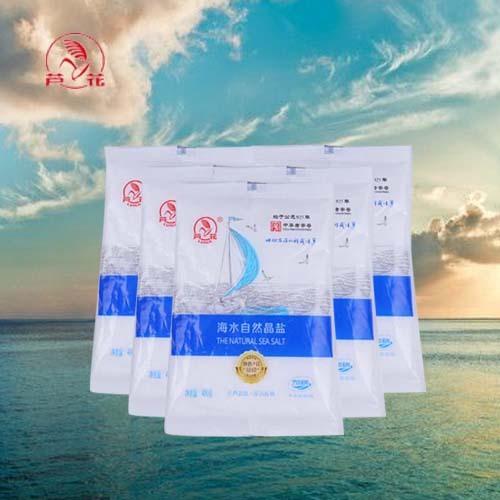 海水自然晶盐平袋(加碘) 400克