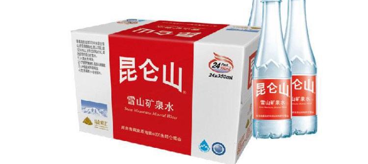 招商 昆仑山 雪山矿泉水 饮用水 雪山矿泉水 1.23L 2瓶 箱