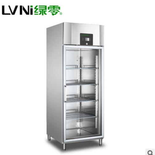 供应 绿零单门不锈钢立式玻璃门厨房冷冰柜 冷藏冷冻商用制冷设备厂家