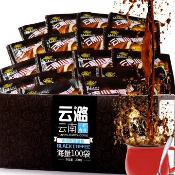 供应 速溶黑咖啡纯咖啡粉无蔗糖进口咖啡罐装现磨香醇浓苦110g博达