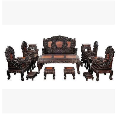 供应 实木沙发 古典沙发 实木家具 大红酸枝老酸枝17件套