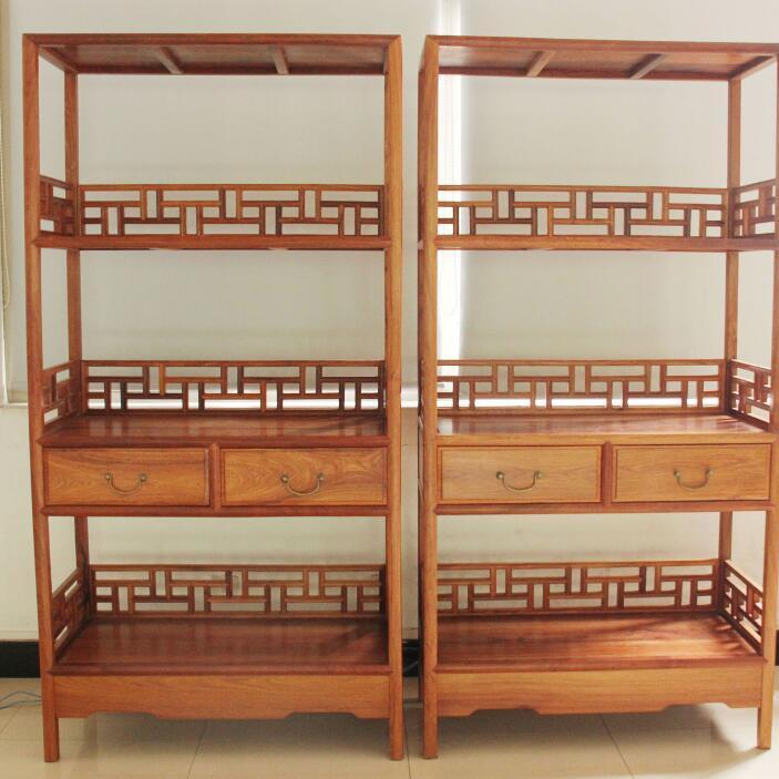 供应 特价促销 实木家具 红木家具 缅甸花梨二件套书架