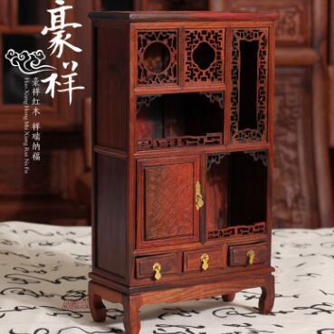 供应 红酸枝微型家具 红酸枝微型橱柜 古典微型家居摆件