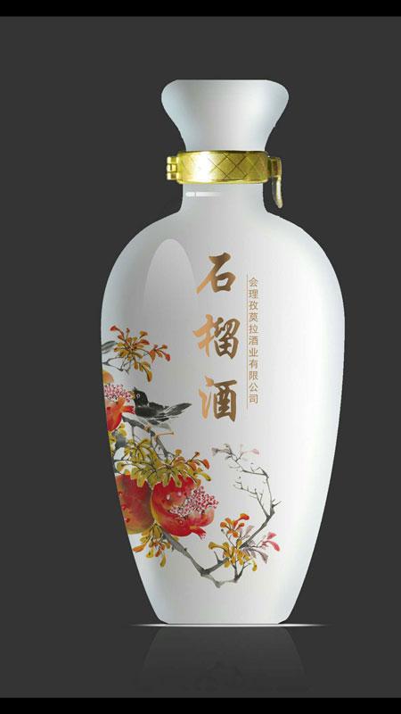 吉吉��olX]_孜莫拉石榴蒸馏酒500ml