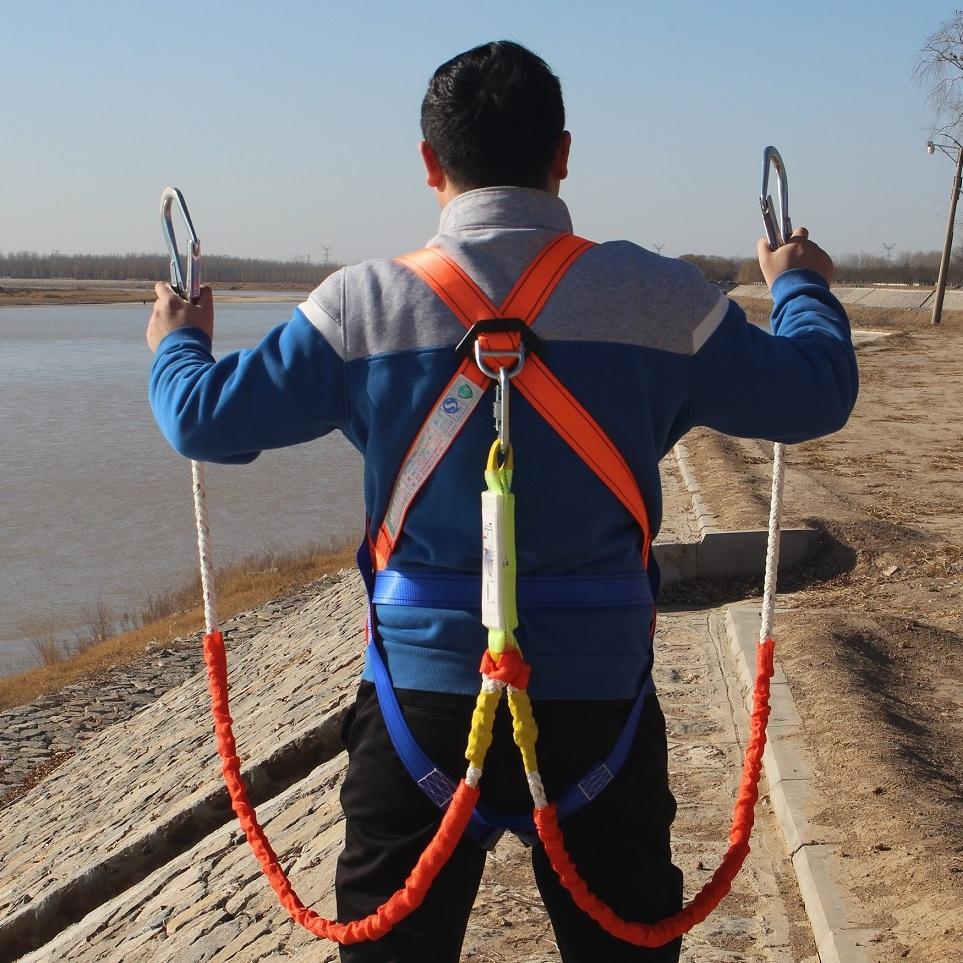 缓冲欧式安全带全身五点式高空作业保险带户外施工安全绳电工空调4