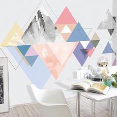 供应 渐变几何简单三角壁纸墙纸