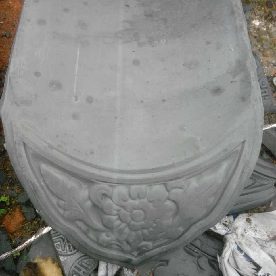 绍兴古建滴水瓦片