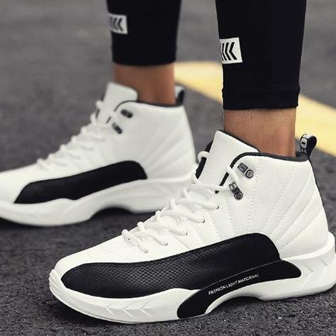 2018新款猛男篮球鞋 扣篮减震男士篮球鞋 耐磨防滑高帮球鞋运动鞋